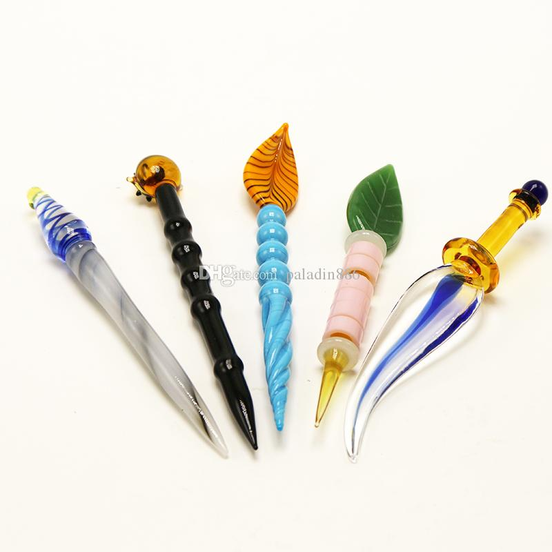 Raucher-Accessary 5 Arten Öl Rigs DAB-Rigs Carving Glass DAB-Werkzeug für Glas Bong Quarz E-Nails Herb Wachs DAB-Werkzeug