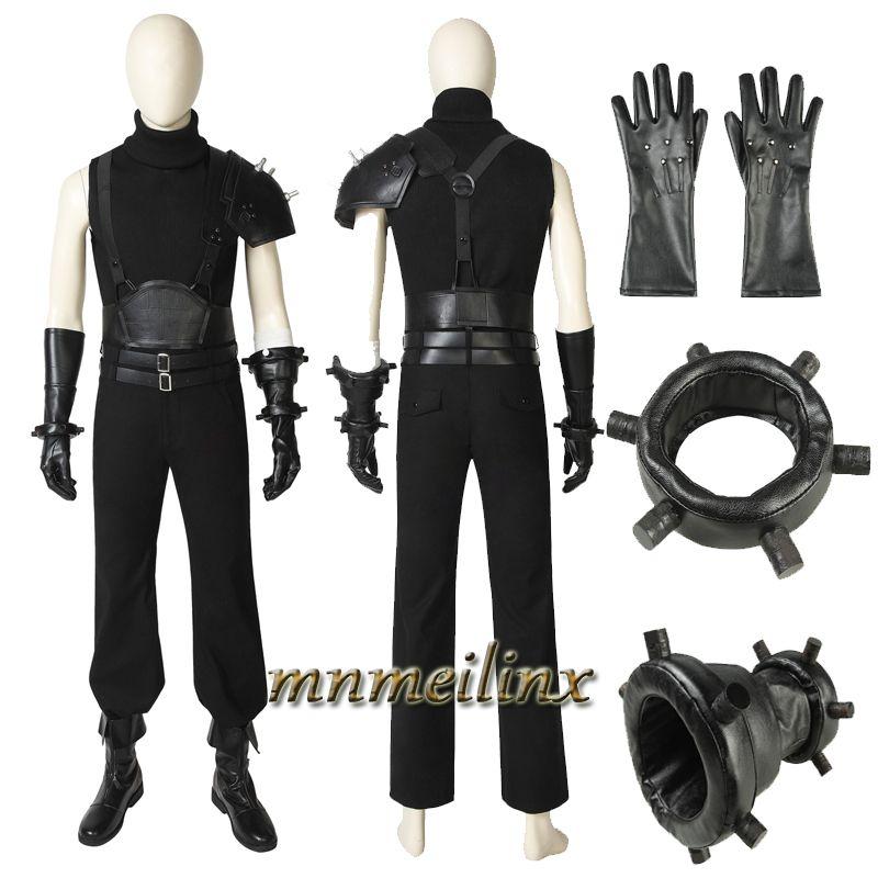 New Final Fantasy Vii Cloud Strife Men/'s Uniform Cosplay Costume Full Set