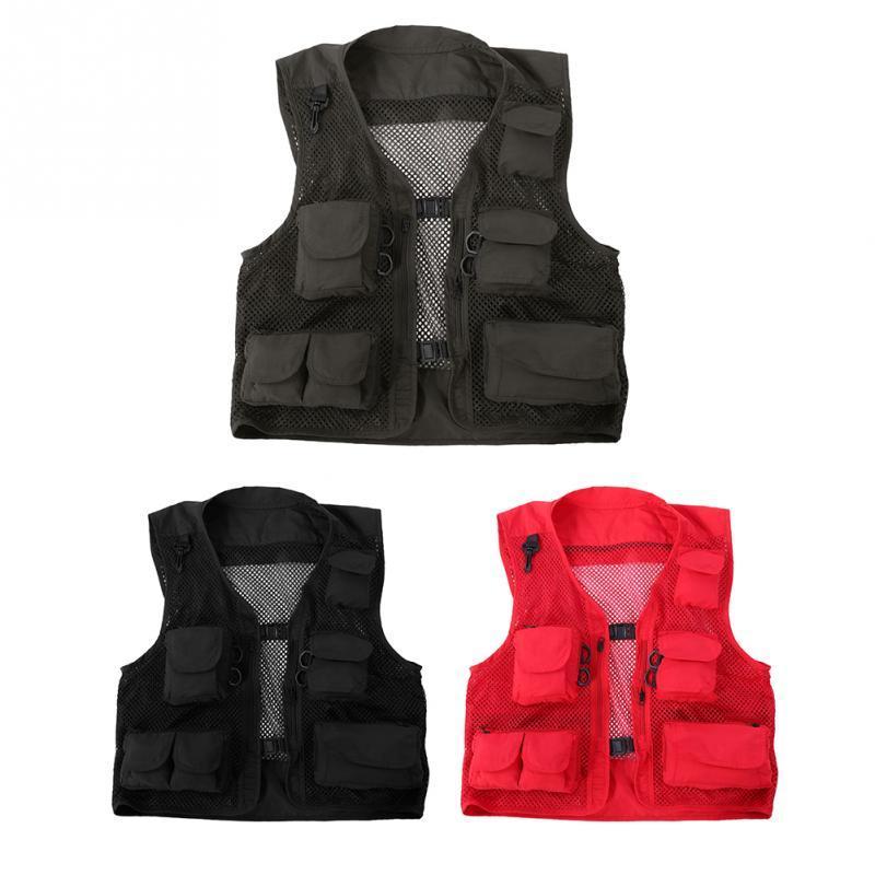 Fahrradtrikot Schnellatmungsaktiv Nylon-Mesh-Radtrikot im Freien Multi-Tasche Travel Angeln Jacket Vest Ausrüstung