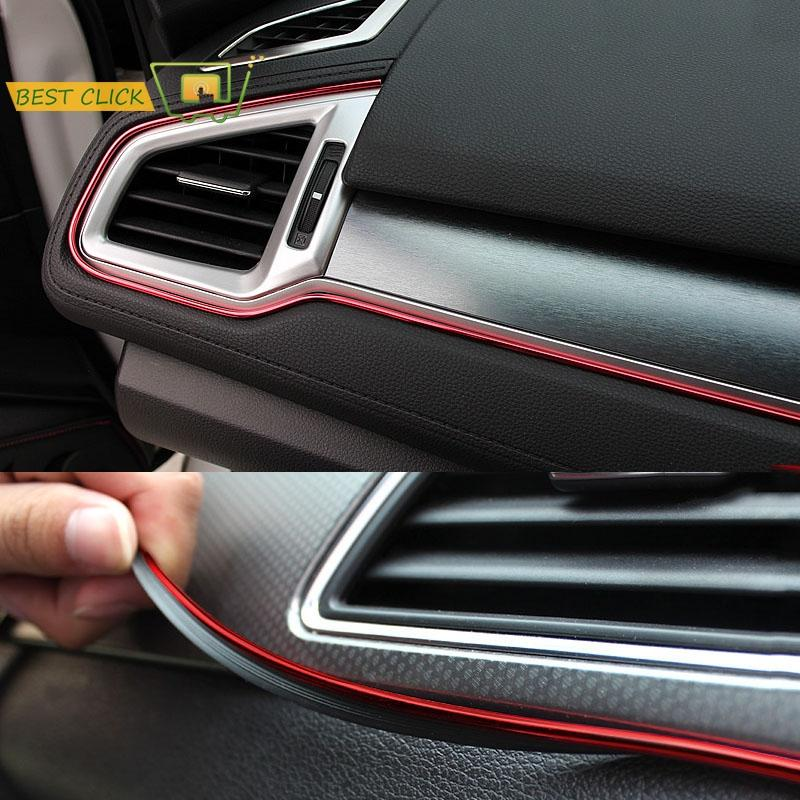 heap Interior Mouldings 5M Red Car Interior Moulding Trims Line Strips Car Styling Door Dashboard Air Outlet Decorative Sticker Auto Acce...