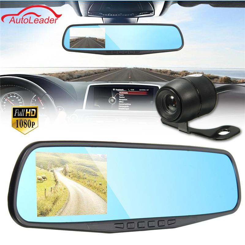 Freeshipping HD 1080P 3.8 Inch 140 Angle Night Vision Car dvr Rear View Mirror Camera Dash Cam Video Recorder Reverse Backup Camera