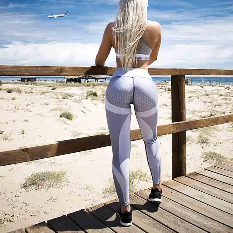 ZSIIBO ghette delle donne gotiche mesh design fitness Bodybuilding pantaloni pantaloni neri Slim sportivo femminili Nuove palestre Leggings