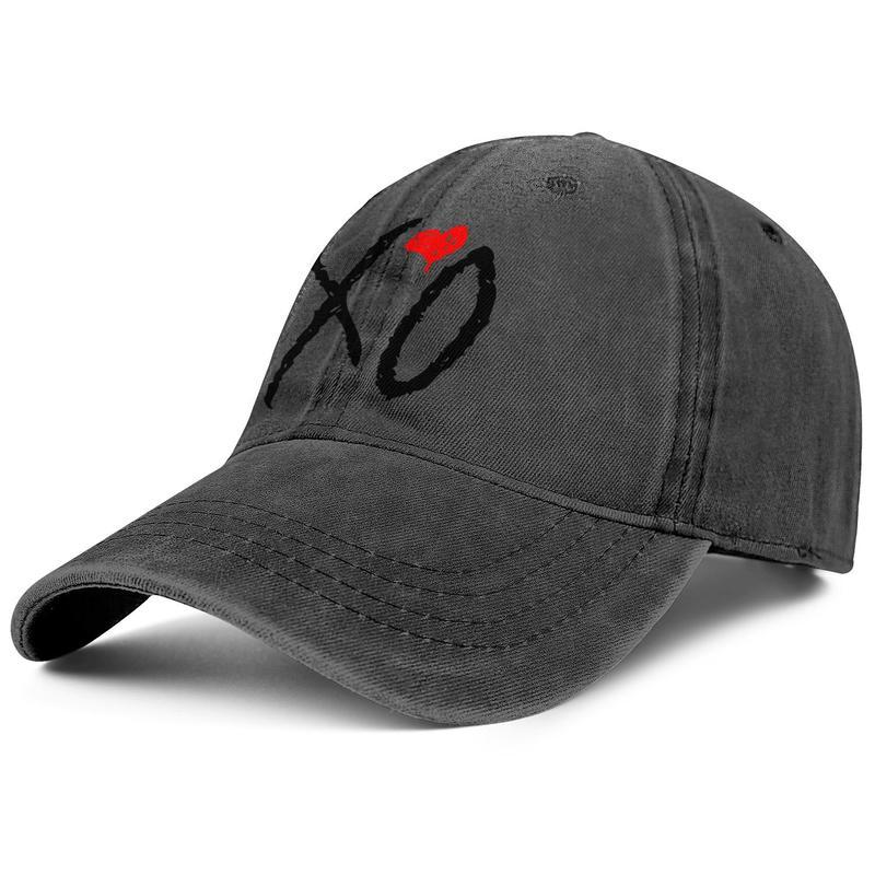 XO Weeknd Logo black red unisex baseball Adjustable Cowboy hat cool vintage cute Fashion classic cowboy The Kiss Land Cat Face white