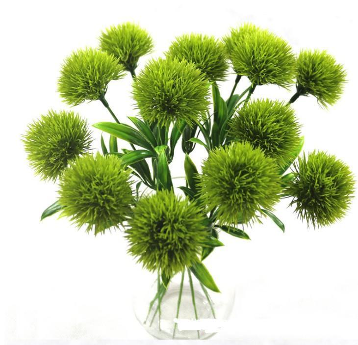 fiori semplici stelo del dente di leone tarassaco artificiale fiore di plastica da sposa decorazioni lungo di 25cm centri tavola