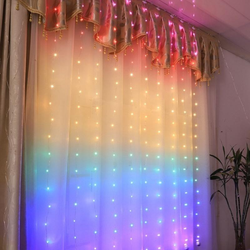 210leds Rainbow Curtain Light Fairy Lights Bedroom Home Decoration Window Wedding Party Holiday Lighting Fairy String Light Y200603 Decorating House For Christmas Decorating Ornaments From Shanye10 16 02 Dhgate Com
