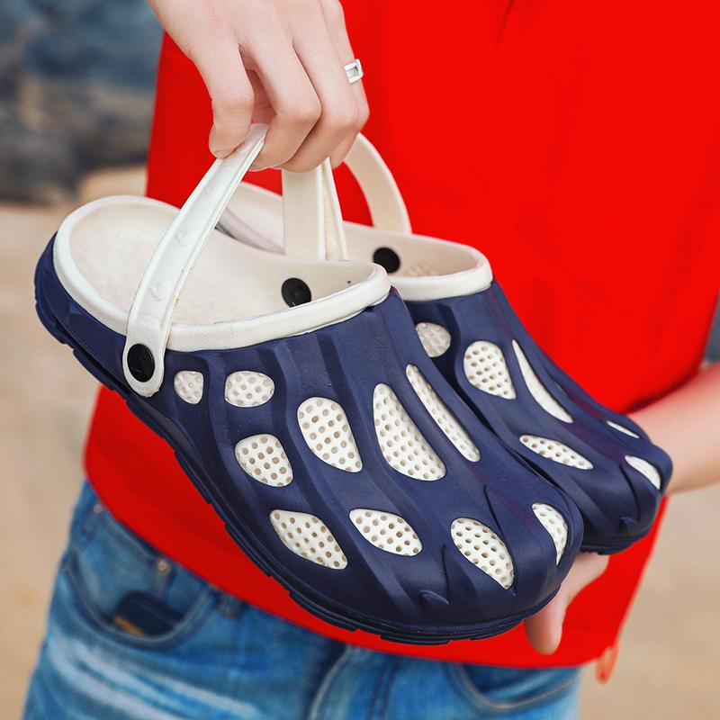Jardín original Girar los fracasos de los zapatos de secado rápido de agua deporte de los hombres verano de la playa de la aguamarina del deslizador al aire libre sandalias Bloque Jefferson Zapatos