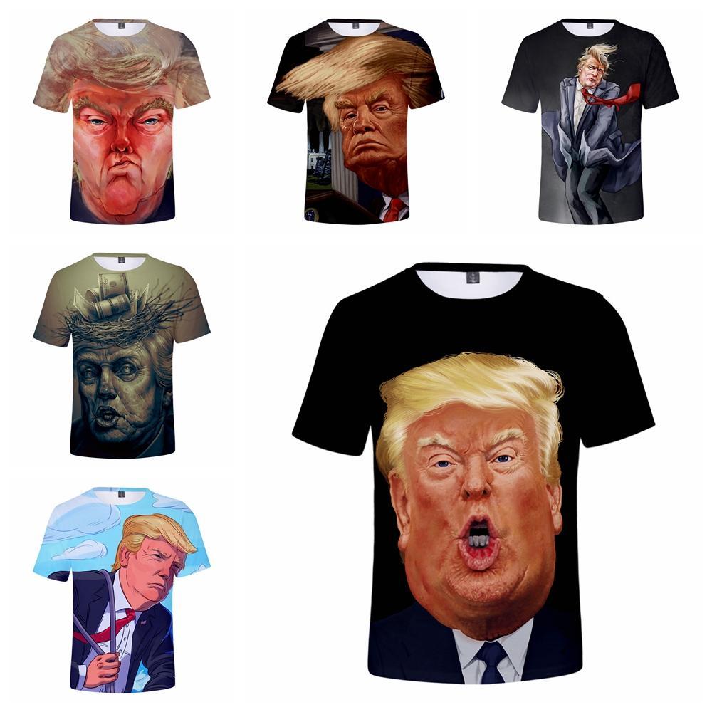 Erkekler Donald Trump Tişörtlü 3D Baskılı Homme O-Boyun çabuk kuruyan Kısa Kollu Gömlek Pro Trump 2020 Tişört başkan Amerikalı L-JJA2069 Tops