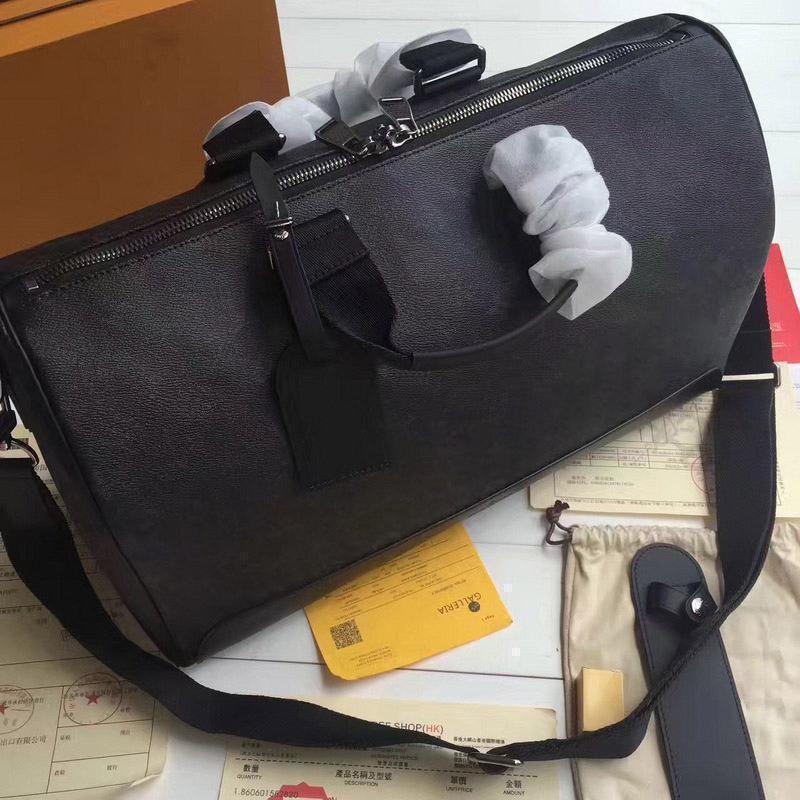 Keepall 45 Sacs de voyage Hot pour les hommes et les femmes en cuir véritable sac Top qualité de totes crossbody pour dames Homme Taille 45 x 27 x 20 cm1ff0 #