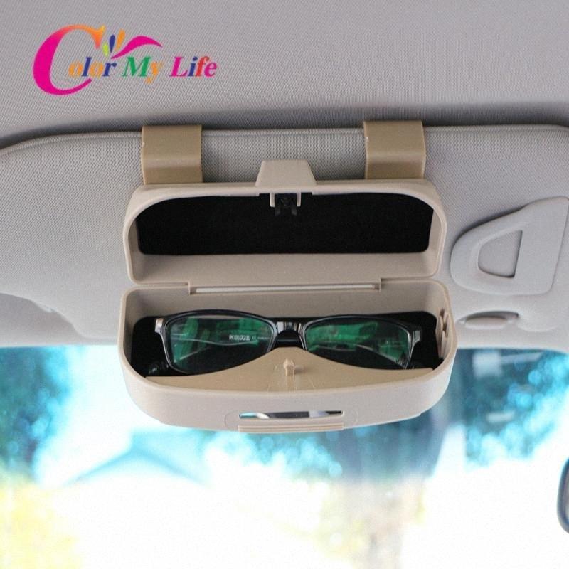 Neue Multifunktions-Auto Auto Brille Clip Ticket-Karte Clamp ABS Auto Brillenetui Masken-Sonnenbrille-Halter Zubehör HViw #