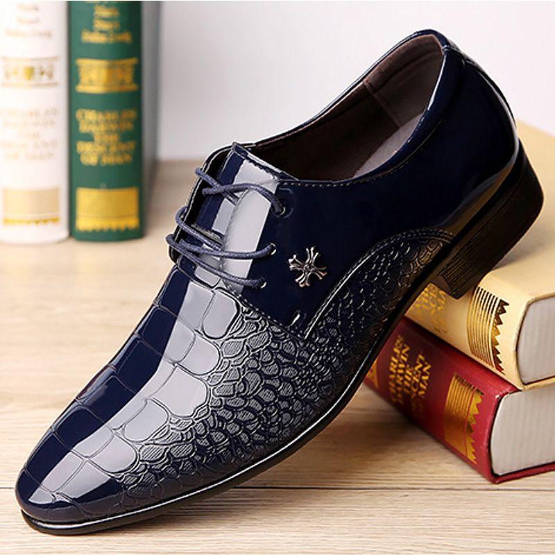 Abito scarpe da uomo d'affari formali scarpe uomo di coccodrillo di grandi dimensioni 13/14 Elegante nuove scarpe da uomo in pelle arrivo