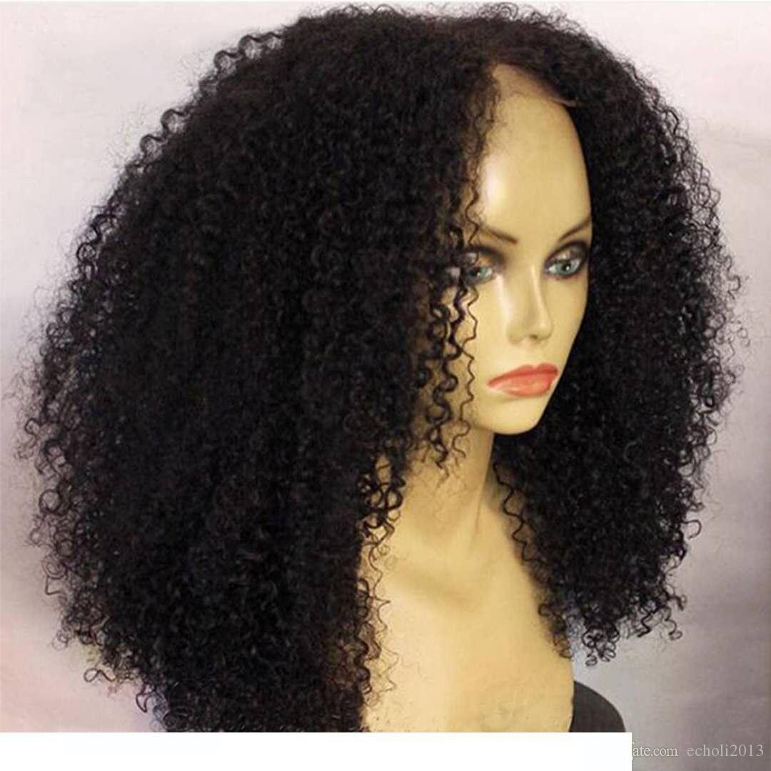 A Best Natural Looking Afro Kinky Curly 180 %Denstiy Brazilian Hair Lace Front Wigs Full Natural Human Hair Wigss For Black Women 12 -2