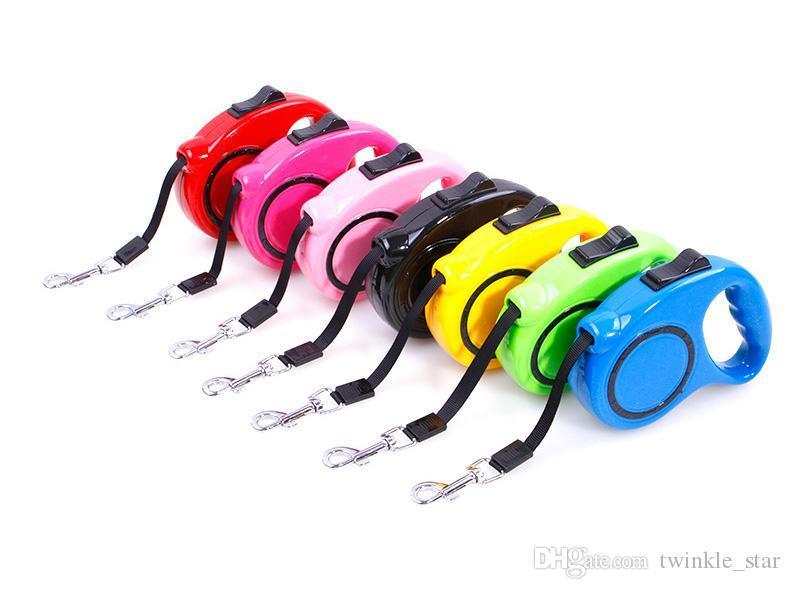 Automatic telescopic adjustable safety pet cat dog leash pretty various colors leashes for outdoor walking dogs