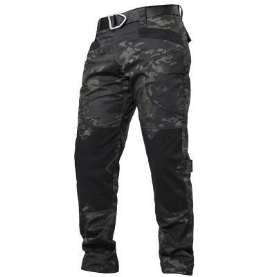 Pantalones IX6 Ciudad táctico de Carga Los hombres de combate del Ejército SWAT pantalones de algodón muchos bolsillos estiramiento hombre flexible ocasional de los pantalones XXXL