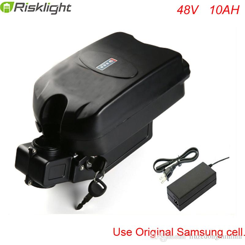 48V 10Ah E-bike Battery Seat Post Frog Style Lithium-ion for 1000W Electric Bike