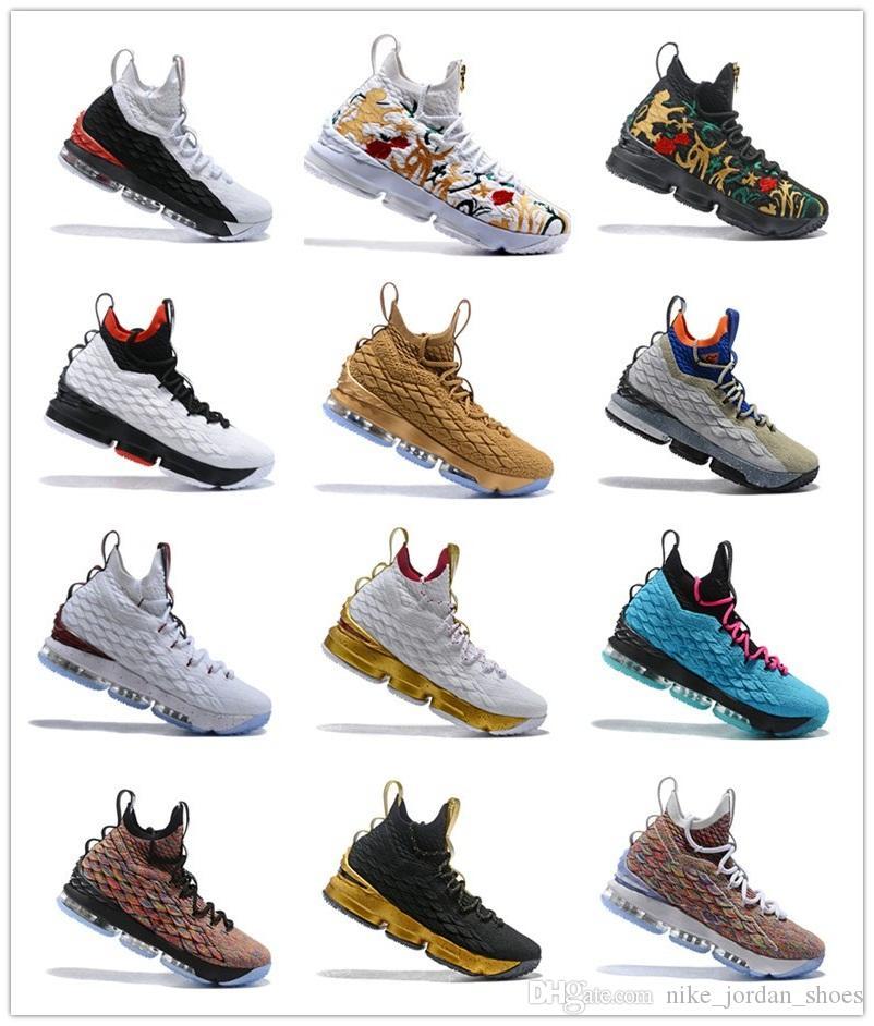 2018 최신 재 유령 15 남자 농구 신발 사우스 비치 줌 세대 J15s Sneakers Mens 캐주얼 신발