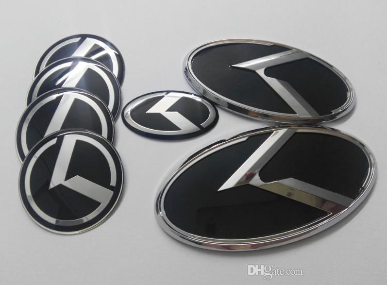 7pcs 1set nuovo logo nero K emblema distintivo 3d adesivo per KIA K5 OPTIMA 2011-2017 / auto emblemi / 3D autoadesivo / freeshipping