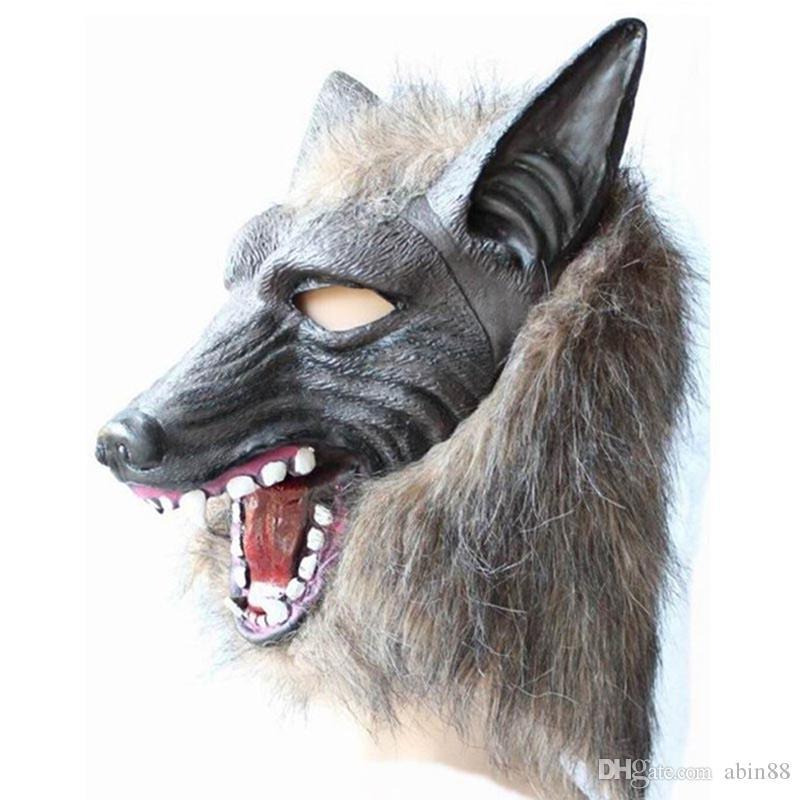 Оборотень Хэллоуин маски Big Bad Wolf Adult Полный Head Wolf маска Костюм аксессуар партия Маска взрослого Косплей Игрушка