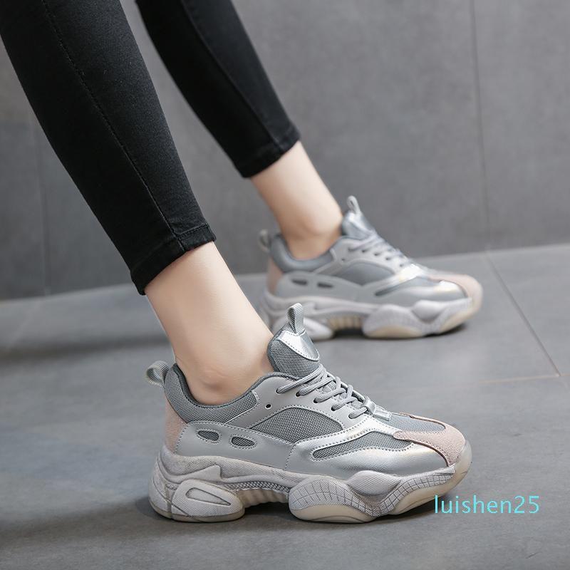 Ocio Sport Las mujeres de los holgazanes cómodos zapatos de plataforma suave Turismo Mujer zapatos sin cordones 9 S señoras de Tenis Zapatos Bulk Accesorios l25