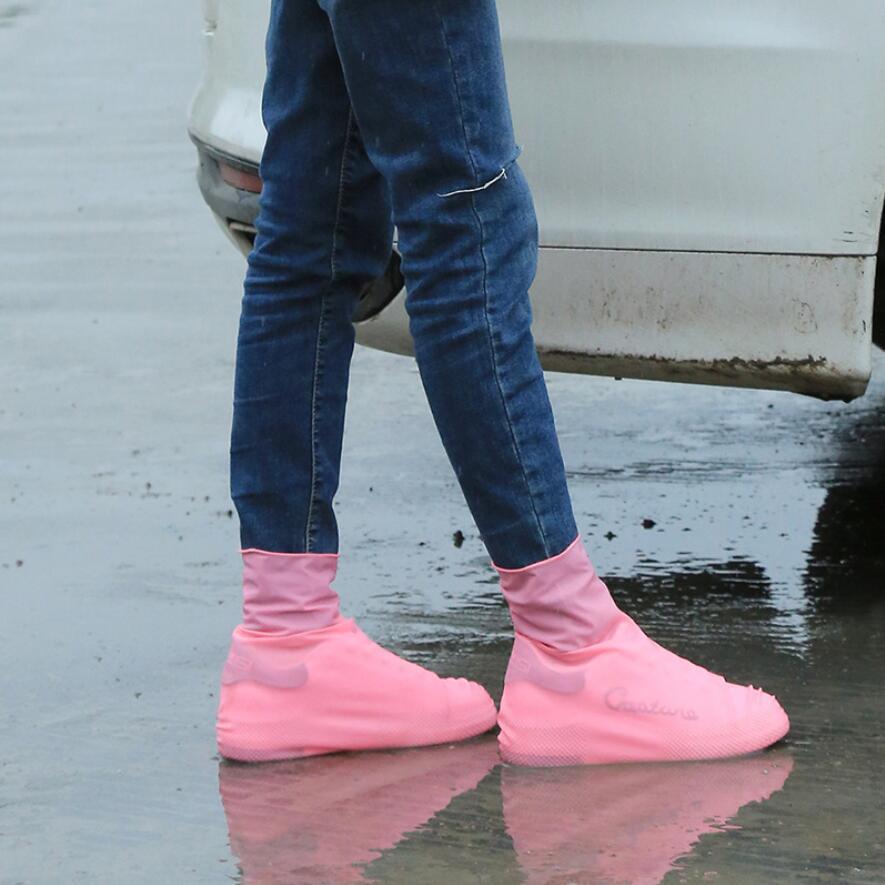 Botas de sapatos à prova d'água da tampa do silicone Unisex Shoes Protetores Chuva Botas Indoor Outdoor reutilizável látex impermeável chuva Sapatos Covers