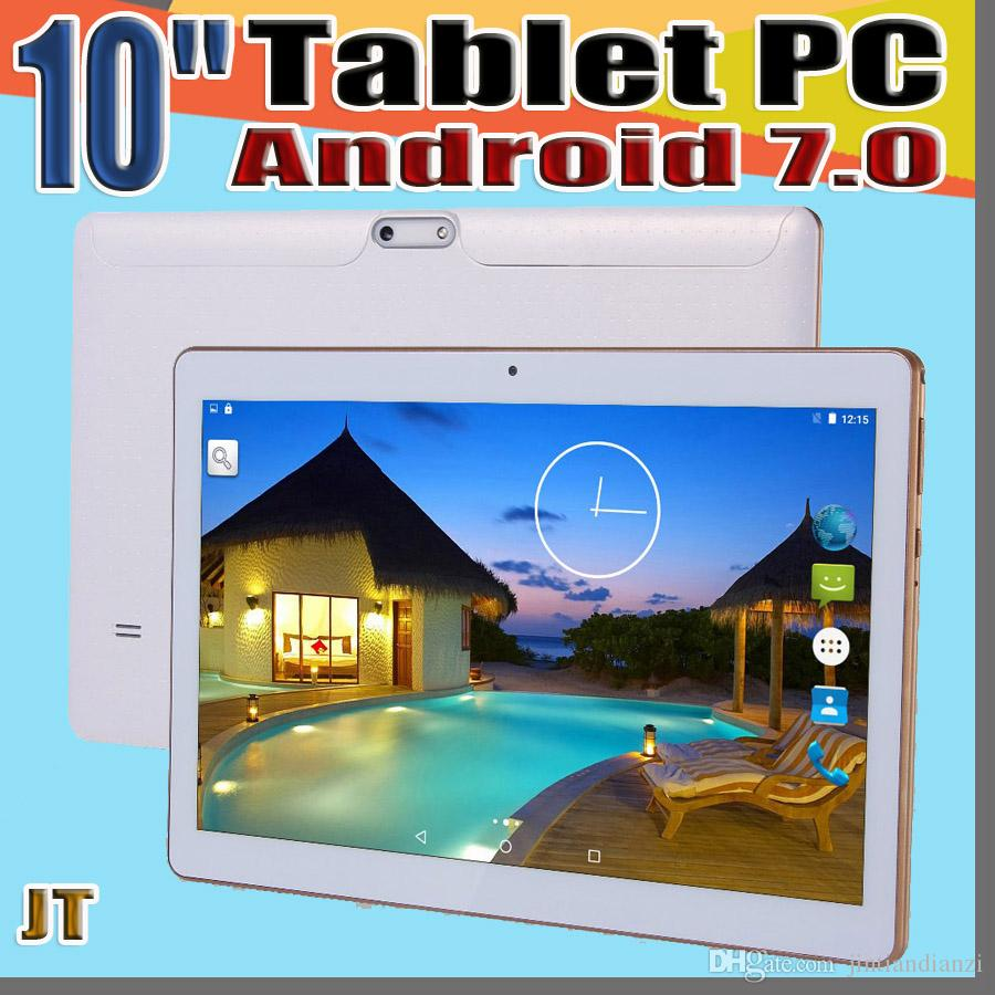 "JT High quality 10 Inch 10 "" Tablet PC MTK6580 Octa Core Android 7.0 4GB RAM 64GB ROM Phable tablet IPS Screen GPS 3G phone tablets E-9PB"