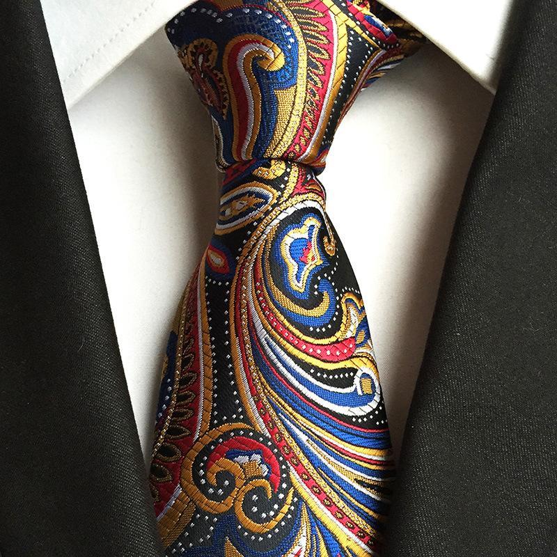 남성 실크 넥타이 8cm 손수건 꽃 드레스 선물 Gravata 목에 두르는 남자 비즈니스 수요일 정장 목에 넥타이를위한 자카드 넥타이