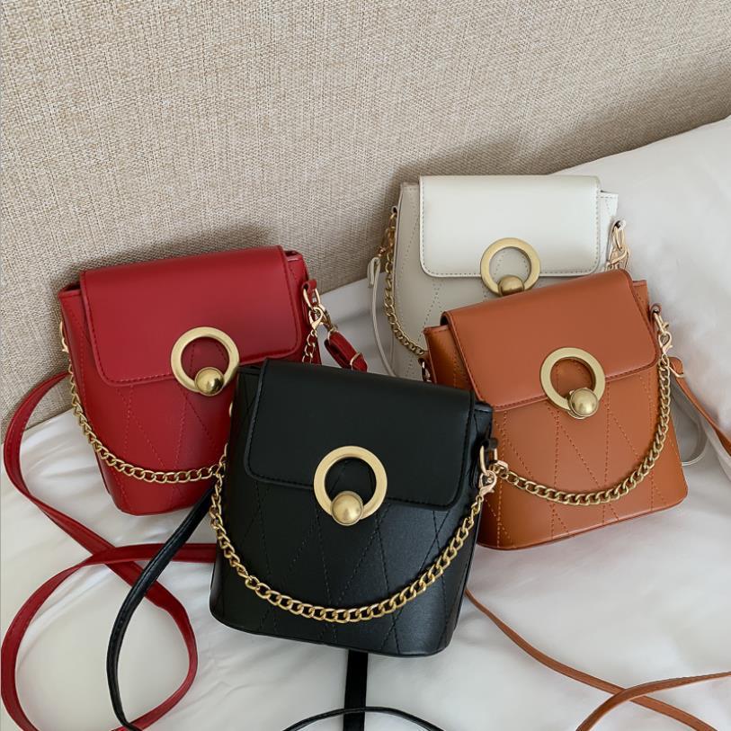 de las mujeres pequeña bolsa Cruz Body Bags 2020 Nuevos todos-en torno retro bolsas de mensajero de la buena calidad de moda bolsa de cadena de cangilones