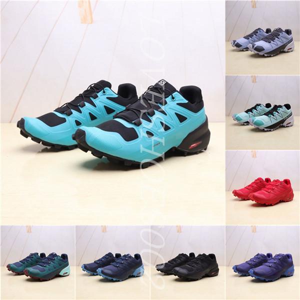 2020 Yeni Speedcross 5 GTX Çayır Donanma Blazer Erkekler Çoklu Renk Siyah Mavi Mor Trail Running Ayakkabı
