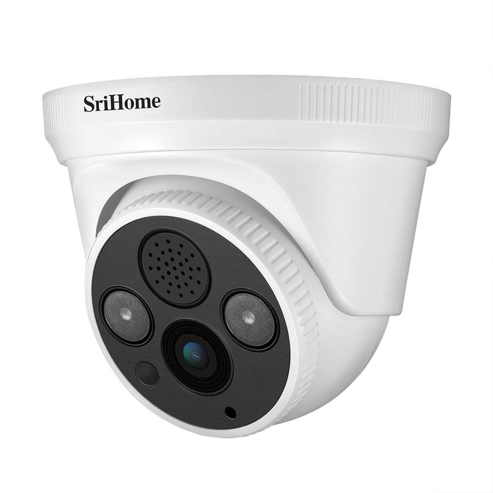 Sricam SH030 HD 3.0MP 돔 IP 카메라 H.265 보안 CCTV 와이파이 카메라 양방향 오디오 알람 푸시 NVR에 대한 ONVIF 프로토콜