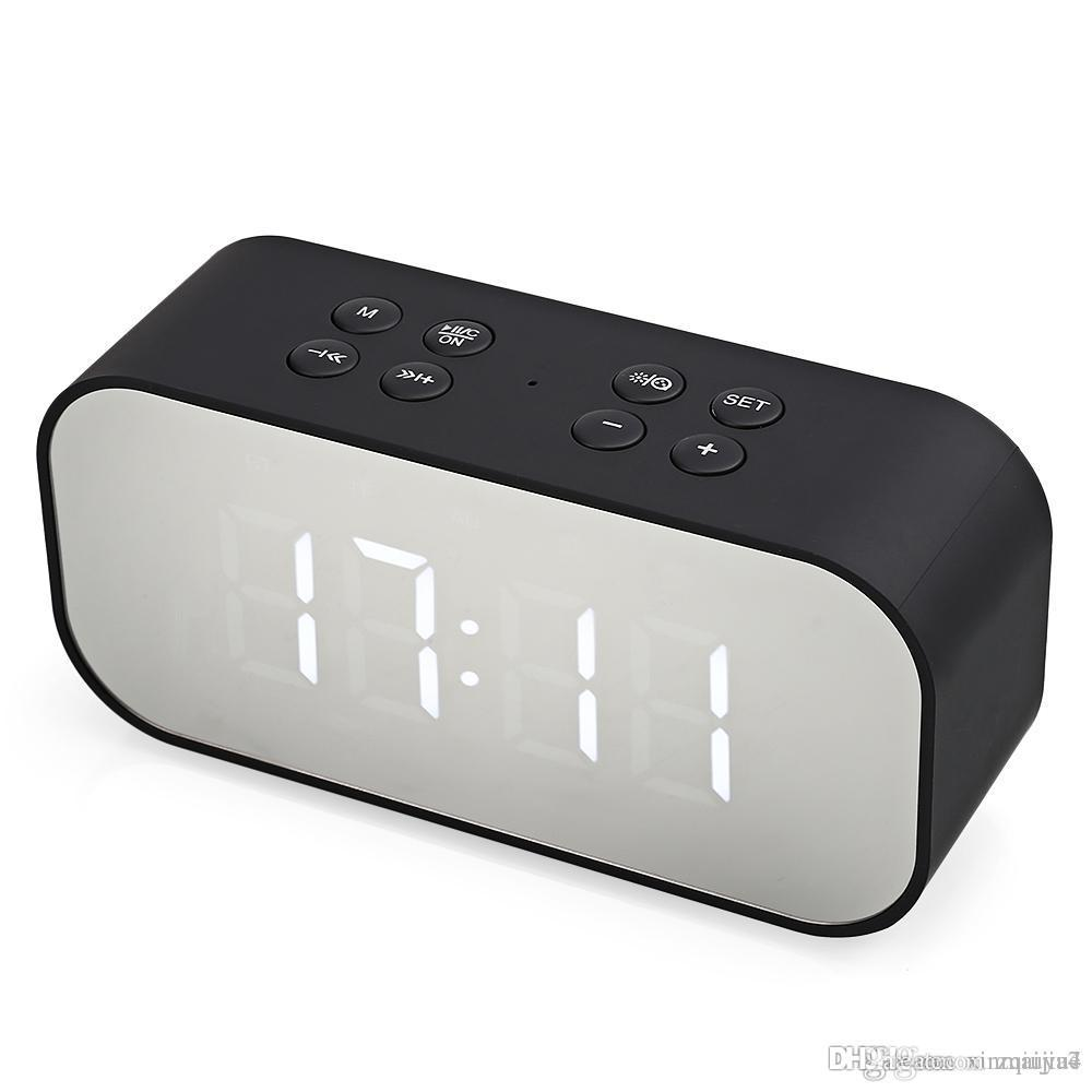 Hot Portable Alarm Clock Wireless Bluetooth Stereo Speaker LED Display for Travel Sports PC Computer Smart Mobile Phone