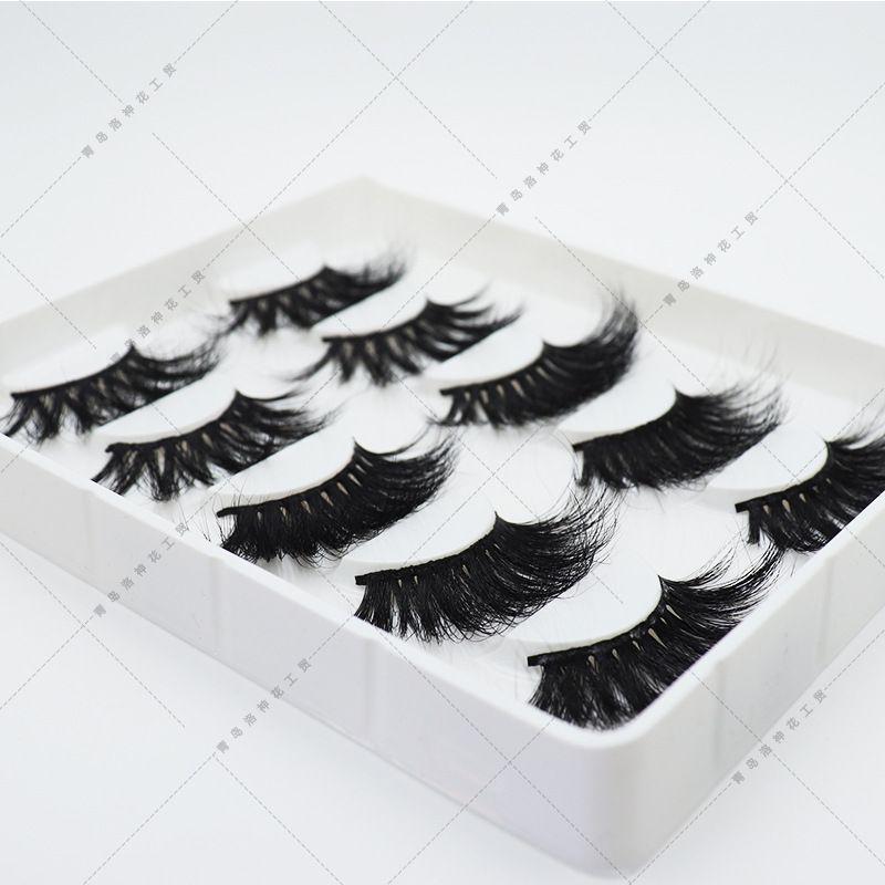 30mm long 10 styles 3D mink hair false eyelashes to make eyelash lengthening version by hand 5 sets free shipping
