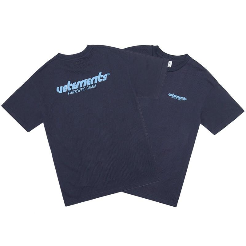 Mens Designer T-shirt Hip-hop Shirt Fog Double Points TRAJECTOIRE Imprimé à manches courtes lettres Vetements High Street Tide Europe et en Amérique