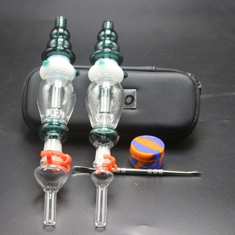 Dab Miele Paglia Con 10mm 14mm Punta di vetro Miele Mini Pipa di vetro per acqua Dab Rig Bong in vetro per fumatori