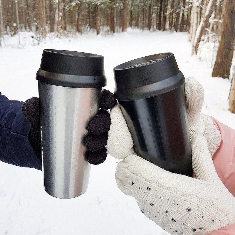 HOT-350ml Cup ermetiche Vaccum Boccette bottiglia isolato tazza di caffè per auto Office Portable termica tazza d'acqua