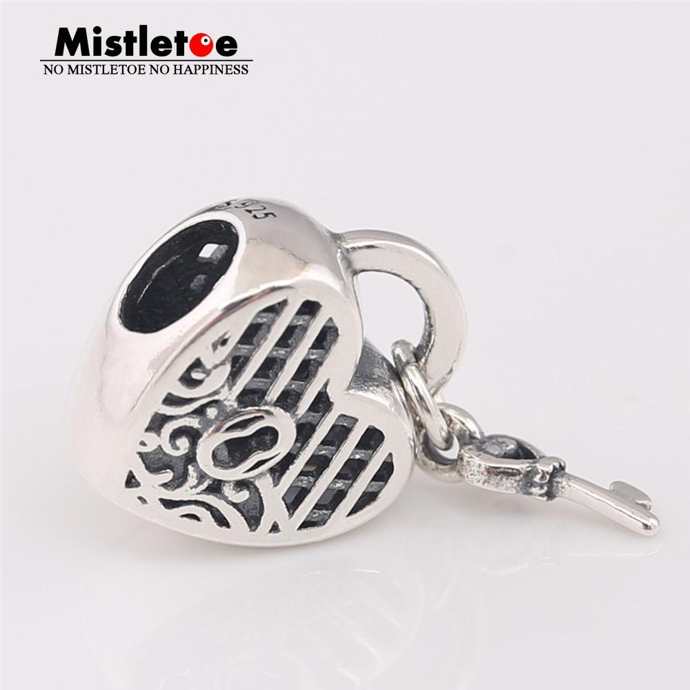 Оптовая стерлингового серебра 925 люблю тебя замок очарование подходят европейские браслеты ожерелье ювелирные изделия