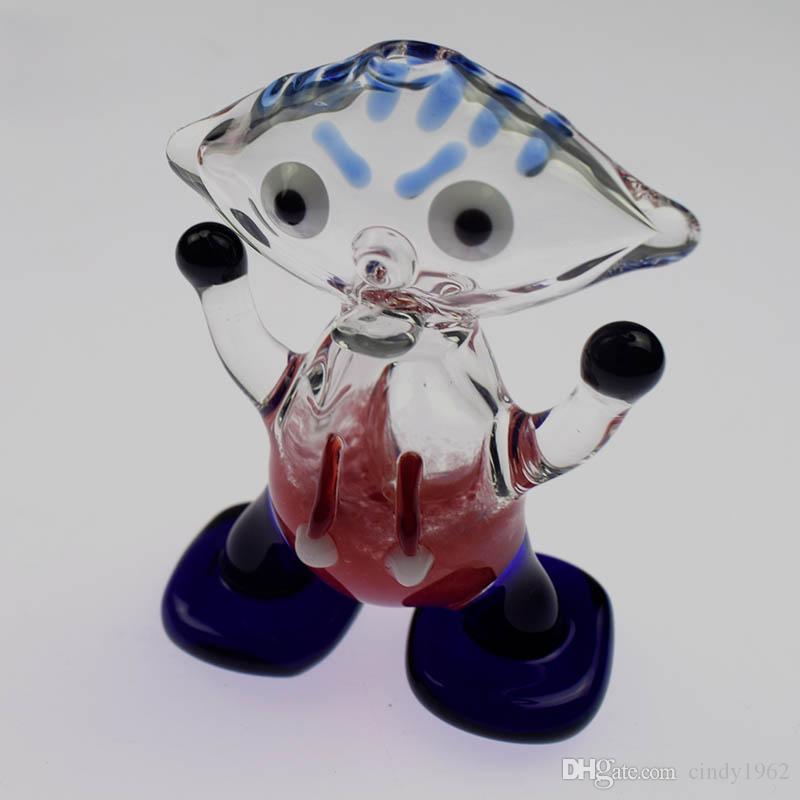 Aliens piedi eccellenti unico tubo di vetro mano pipe mano tubo di vetro animale tabacco per fumare fumo secca miglior regalo
