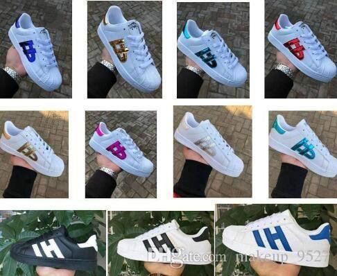 Erkekler Kadınlar Düz taban plakası doğrudan satış iş renklerinizi süperstar ayakkabı Deri Unisex Düz ayakkabı çift ayakkabı big46