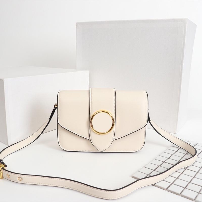 Mais novo 24cm Clássico Mulheres Monograma Single Ombro Messenger Tote Ajustável Ombro Strap Flip Real Couro Crossbody Bag Bolsa Bolsa