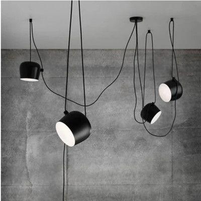 1/2/3/4/5 Jefes lámpara DIY Led Tambor colgante para el restaurante moderna tienda de ropa de ventana Luz pendiente Industrial Interior accesorio de iluminación