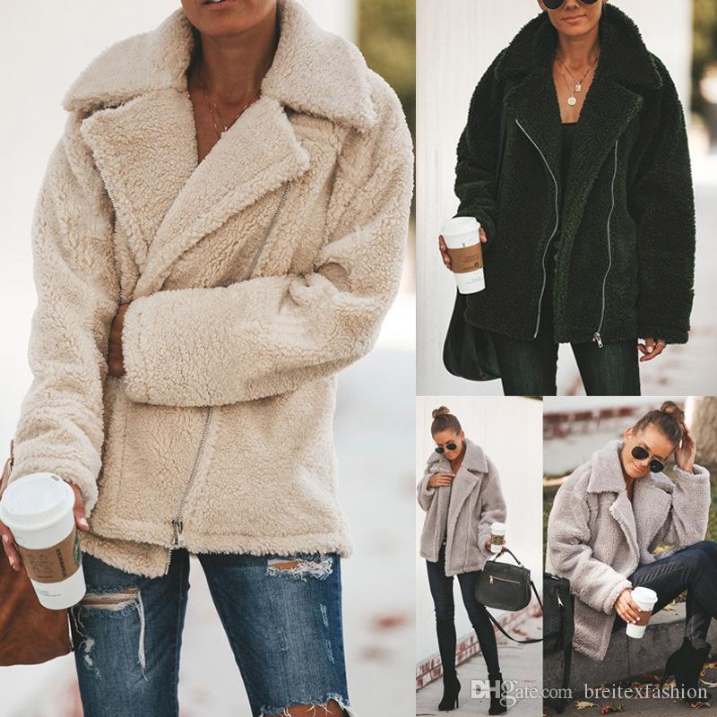الأزياء سترة 2020 الأبيض البلوز الدافئة كم طويل العلامة التجارية الشارع الشهير الأزياء Sweate امرأة زبدة نباتية معطف الساخن بيع