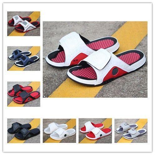 erkekler Beach'in sandal 11 XI 6 VI ayakkabı açık ayakkabı boyutu 36-45 nakliye Jumpman 4 terlik sandalet Hidro IV'ün 4s Slaytlar siyah damla