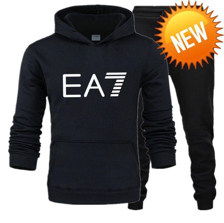 W342 2-teiliges Set Herren-Schweiss-Klage-Mann-Mode-Muster und Letter Printed Sweatshirt + Hosen Sportswear Anzug Fitnessanzug Pullover Sets