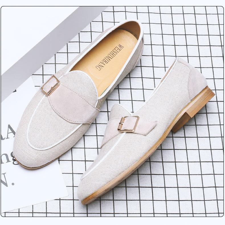 Inspiración jóvenes estudiantes hombres holgazanes de los zapatos ocasionales de los hombres Mate zapatos de cuero de los zapatos oxford 317
