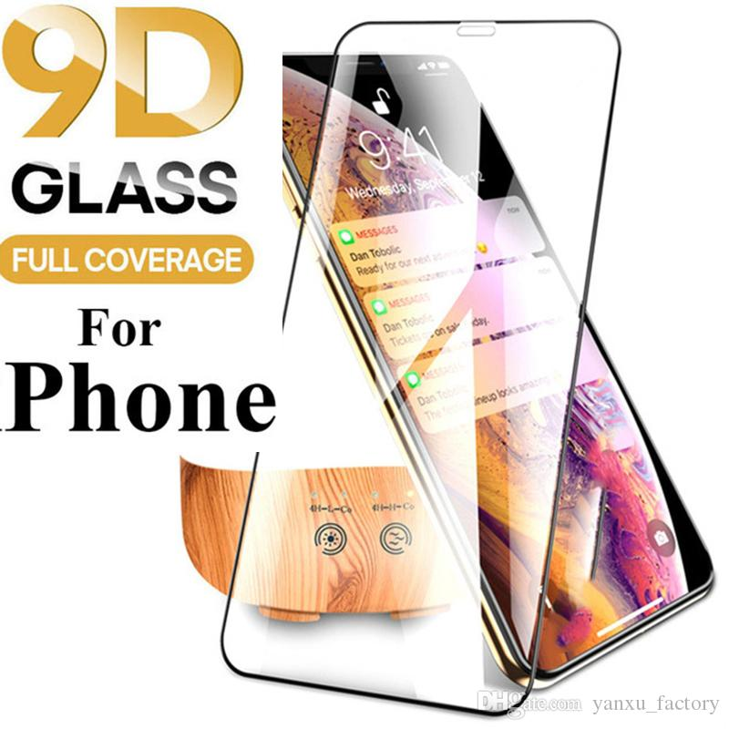 9D Curved Tempered Glass Curved Clear Film 9H Screen Protector For iPhone 12 11 Pro Max XS XR X 8 7 6 Plus 6S Film For i 12Mini SE 2020