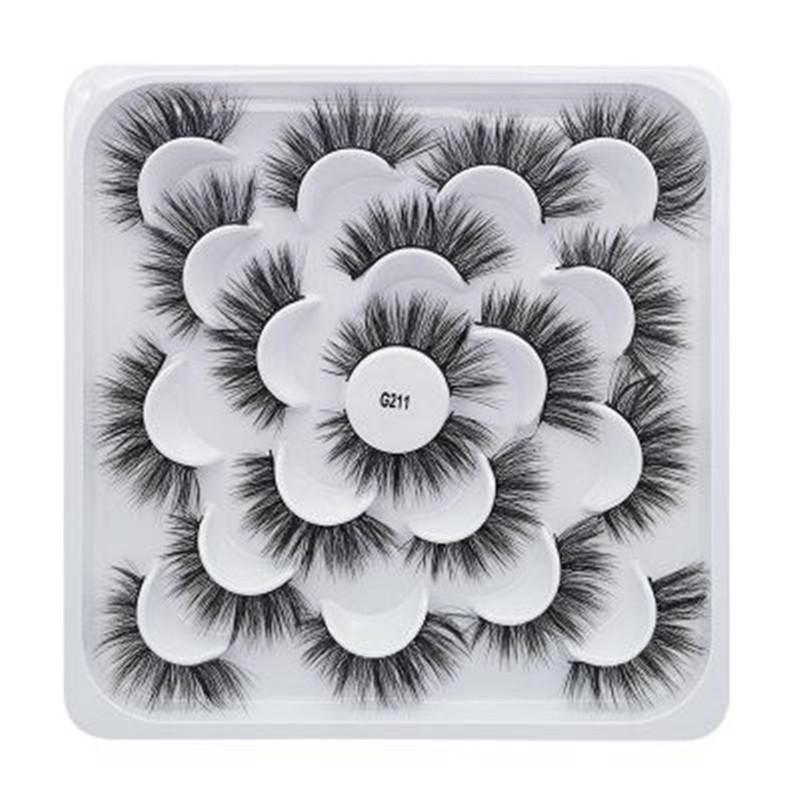 10 Paare 3D Mink falsche Wimpern dick Mink Wimpern Make Up Lashes Natürliche Make-up-Fälschungs-Augen Lashes Extensions maquiagem
