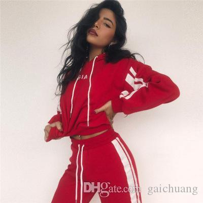 Arbeiten Sie beiläufige Sportanzug Frauen Langarm-Split 2-teiliges Set-beiläufige lange Hosen-beiläufige Outfit Sport