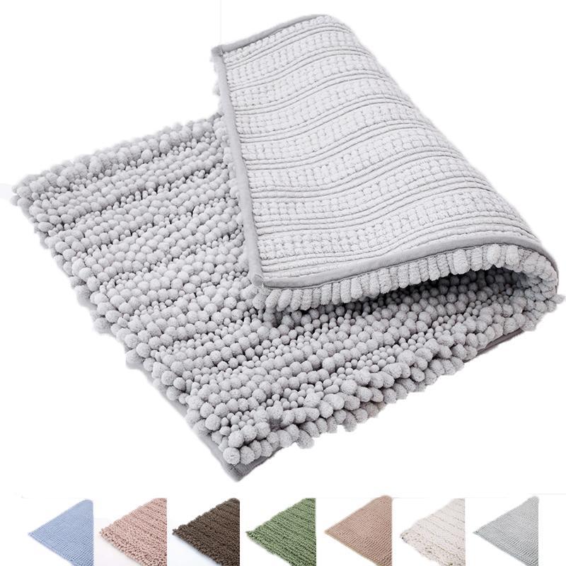 Super Soft Absorbent Non-Slip Microfiber Chenille Rugs/Doormat/Bath Mat/Floor Carpet for Bedroom,Living Room,Bathroom,Shower Mat