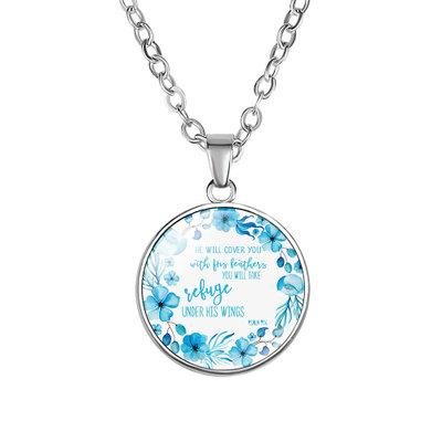 Библия ожерелье писание для женщин Винтажная Стихи Письмо цветок стекло кабошон Подвеска Цепи Statement ожерелье Faith подарка ювелирных изделий