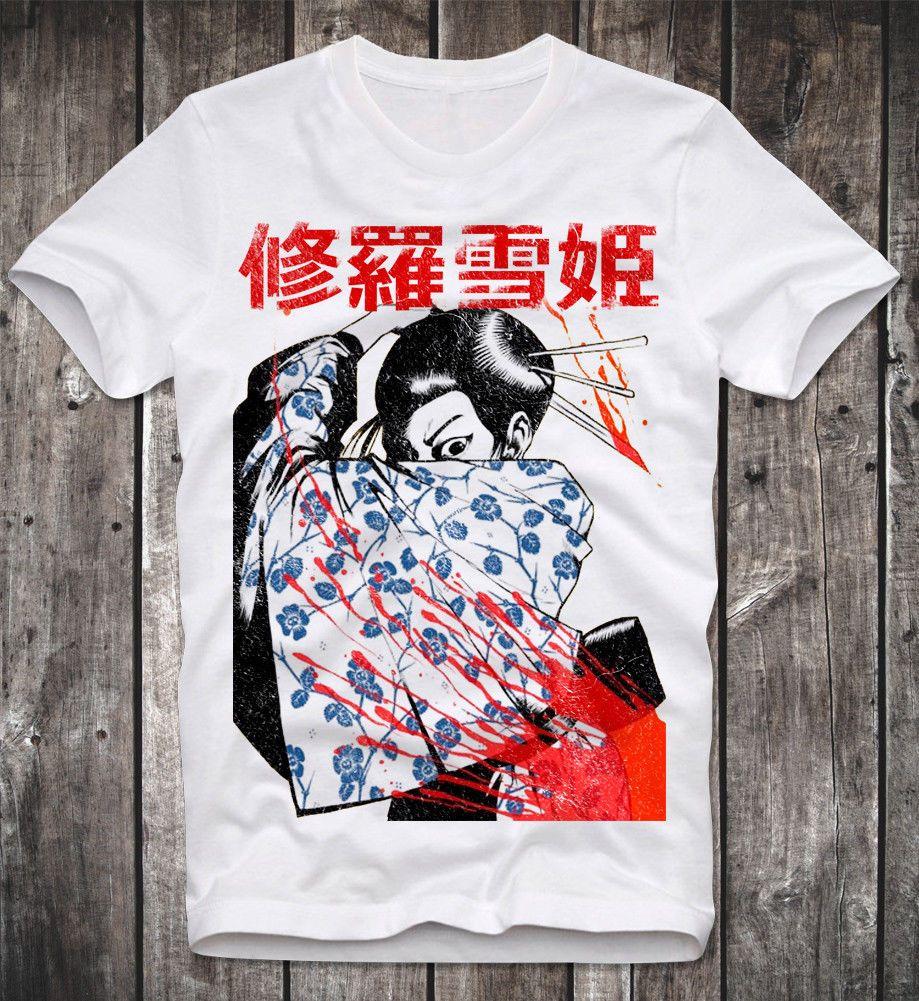 Ladies Womens T-shirt White Japanese Manga Anime Graphic Printed Retro Vintage
