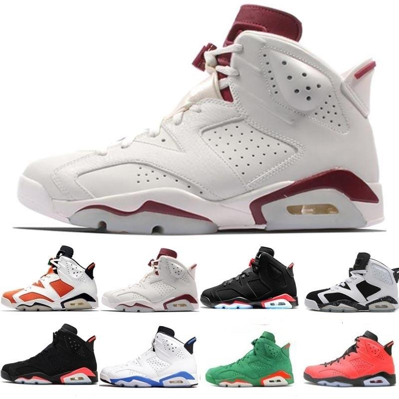 Pas cher 6 6s Iv Pinnacles Or Basketball Chaussures Femmes Hommes Carmine Maroon Blanc Oreo Autre Angry Bull Black Cat Carmine Unc Sneakers