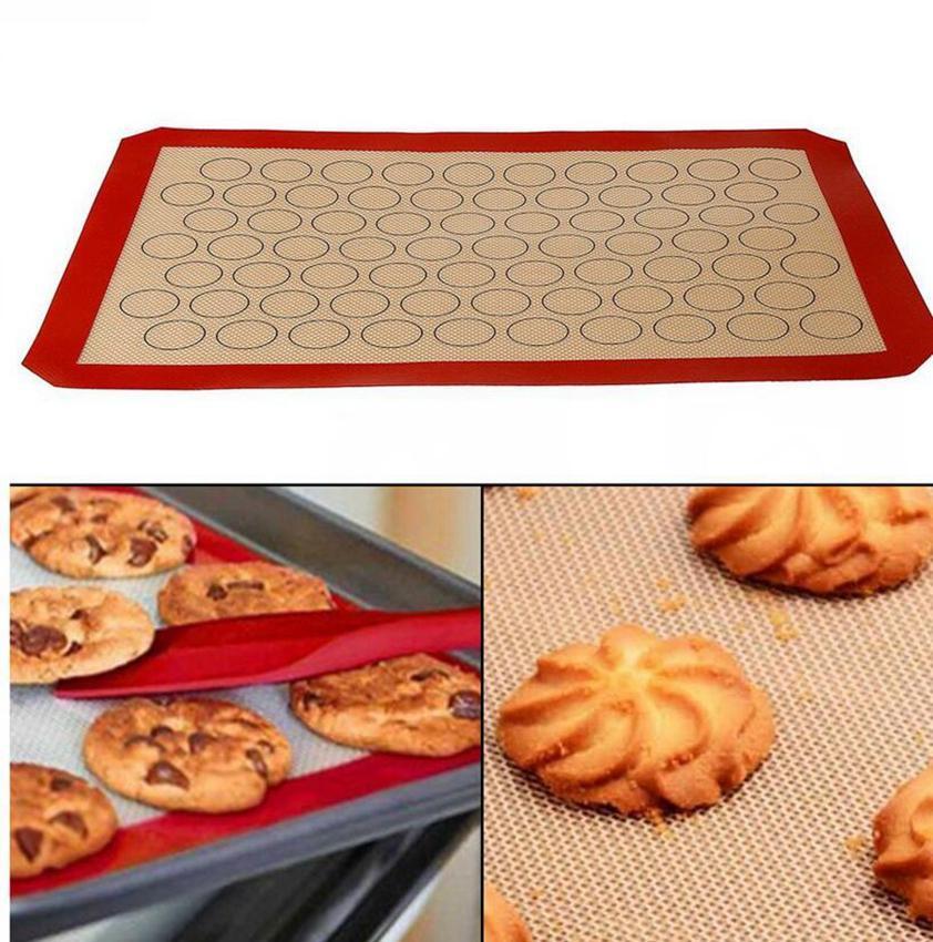 معكرون سيليكون حصيرة المعجنات كعكة بسكويت فرن الخبز العفن ورقة حصيرة 420 * 295 * 0.7MM المعجنات كعكة ورقة KKA7799